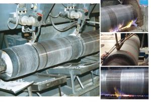 Công nghệ hàn đắp trục cán thép